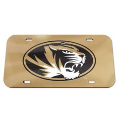 University of Missouri Crystal Mirror License Plate  www.shopmosports.com