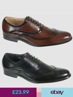 544b27eb0364 Mens Shoes Black   Brown Leather Lined Formal Brogues Size 6 7 8 9 10 11 12