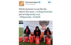 Home Depot Twitter Account Posts Racist Image for College GameDay