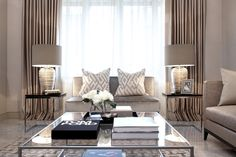 44 Gorgeous Elegant Living Room Design Ideas - There is no room in your home that says more in regards to you and your family than your living room. Other than the bedroom, it's where you're probab. Living Room Windows, My Living Room, Living Room Interior, Home And Living, Living Room Decor, Small Living, Curtains Living, Elegant Living Room, Decoration Inspiration