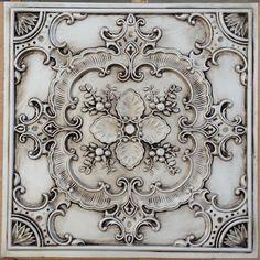 PL19 faux tin antique white ceiling tile 3D embossed | Etsy Faux Tin Ceiling Tiles, Tin Tiles, Pressed Tin, Pub Decor, Wall Decor, Decorative Wall Panels, White Ceiling, Gold Ceiling, Ceiling Panels
