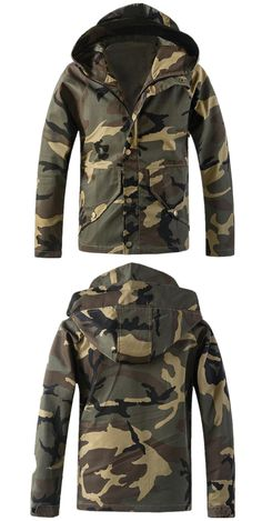 New Spring Camouflage Hooded Jacket