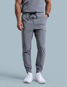 Jogger Pant in Graphite is a contemporary addition to women's medical scrub outfits. Shop Jaanuu for scrubs, lab coats and other medical apparel. Scrubs Outfit, Scrubs Uniform, Men In Uniform, Mens Jogger Pants, Men's Pants, Medical Uniforms, Medical Scrubs, Nursing Scrubs, Scrub Pants