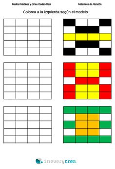 INEVERYCREA COLOREAR Speech Language Therapy, Speech And Language, Apraxia, Math Games, Preschool Activities, Symmetry Worksheets, Math Patterns, School Ot, Color By Numbers