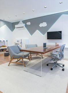 41 Trendy Home Office Pequeno Infantil Medical Office Design, Home Office Design, Home Office Decor, Clinic Interior Design, Clinic Design, Daycare Design, Fresh Living Room, Modern Small House Design, Hospital Design