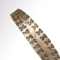 Viking 9th - 11th century AD solid Silver bracelet - artemission.com