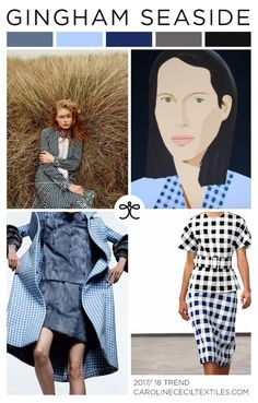 #CarolineCecil on #WeConnectFashion. SS18 emerging trend: Gingham Seaside