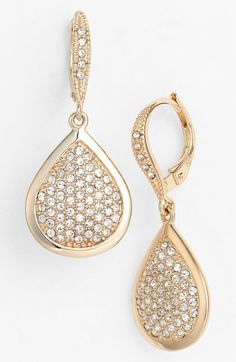 Judith Jack 'Shine On' Pavé Drop Earrings available at #Nordstrom