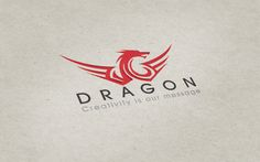 Stylized dragon (don't like the wings), that and font give contemporary vibe