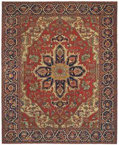 Antique Persian Carpet Serapi
