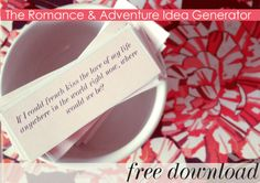Romance & Adventure Idea Generator-Free download | www.morgandaycecil.com