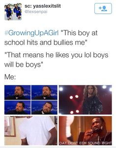 Don't teach girls that abuse is a good thing dumbass Super Funny, Really Funny, Funny Ghetto Memes, Girl Facts, Funny Relatable Quotes, Funny As Hell, Funny Posts, Growing Up, How Are You Feeling
