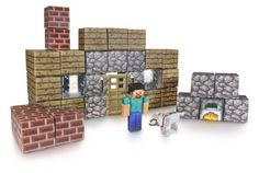 Minecraft Papercraft Shelter Set - give it as a gift or use it at decor at your Minecraft party