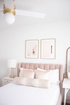 Pb Teen Bedroom Decor - Bedroom : Home Decorating Ideas Girl Bedroom Designs, Room Ideas Bedroom, Home Decor Bedroom, Artwork For Bedroom, Teen Bedroom, Bedroom Inspo, Master Bedroom, Blush And Gold Bedroom, Pink Bedrooms