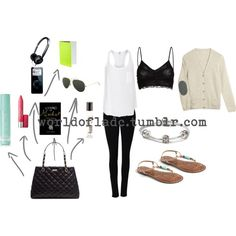 """""""Airplane Outfit"""" by lesleyalaska on Polyvore"""
