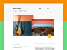 Welcome page by Outcrowd - Dribbble