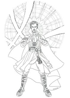 Avengers Coloring, Superhero Coloring, Doctor Strange, Adult Coloring Pages, Coloring Books, Colouring, Captain America Sketch, Black Panther Drawing, Drawing Sketches
