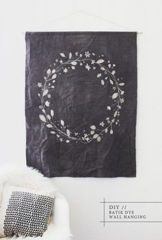 This diy batik dye wall hanging is just the thing to transform any room.