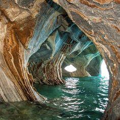 Cuevas de Mármol at General Carrera Lake - Patagonia, Argentina & Chile