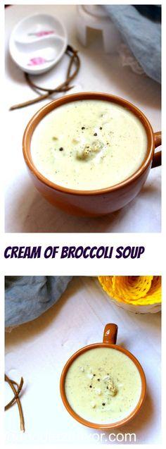 Cream of Broccoli Soup Foodiezflavor.com