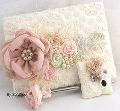 Wedding Guest libro libro de visitas de encaje rosa por SolBijou