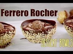 Ferrero Rocher Chocolate Dessert Bowls - Fully Edible | My Cupcake Addiction - YouTube