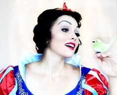 Snow White make-up tutorial... If you love princesses or snow white- pin this baby  kandeej.com