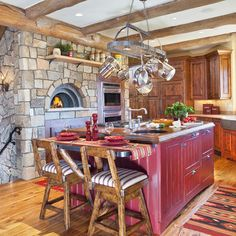 Kitchen Rustic Cabins Design, Pictures, Remodel, Decor and Ideas - page 6