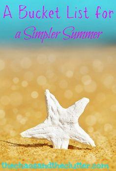 A Bucket List for a Simpler Summer