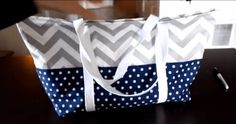Create a Modern Quilted Chevron Tote Bag   Free Tutorial   PatternPile.com