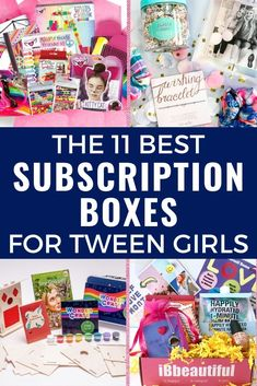 These awesome subscription boxes for tween girls are exactly what you need if you're looking for activities for tweens or a great tween girl gift idea! Monthly crates for tween girls with everything from accessories and beauty products to clothes and crafts! There's a tween girl subscription box perfect for your favorite tween! Make the gift giving part of parenting tweens easier! #tweens #tweengirl #tweengirlgifts #subscriptionboxes Subscription Boxes For Tweens, Teen Boxing, Tween Girl Gifts, Monthly Crates, Kids Up, Craft Activities For Kids, Raising Kids, Kids Christmas, Early Childhood