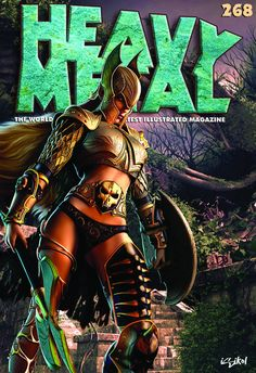 Heavy Metal leaps into action this April with another fantastic blockbuster! Featuring chapter seven of Enki Bilal's 'ANIMAL'Z,' part two of Marco. Fille Heavy Metal, Chica Heavy Metal, Heavy Metal Movie, Heavy Metal Girl, Metal Magazine, Magazine Art, Magazine Covers, Snake Eyes Gi Joe, Animal Z