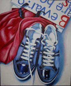 Shoes, acrylic on canvas, 50x60 cm