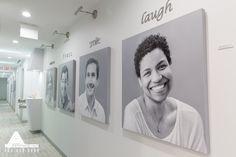 Art Gallery Wall. Dental Office Design by Arminco Inc.
