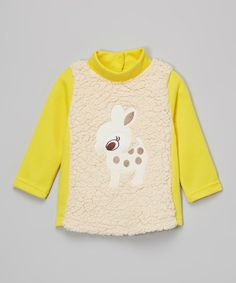 Look at this Yellow Dear Jumper - Infant, Toddler