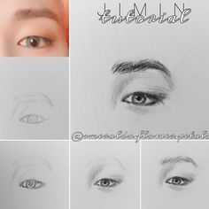 Kpop Drawings, Pencil Art Drawings, Art Drawings Sketches, Drawing Techniques, Drawing Tips, Drawing Reference, Sketches Tutorial, Learn Art, Korean Art