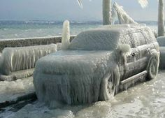 DON'T park too close to Lake Michigan in winter (this is in Sheboygan)
