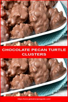 CHOCOLATE PECAN TURTLE CLUSTERS - Daily World Cuisine Recipes Pecan Cluster Recipe, Chocolate Turtles, Melting Chocolate, Butter Flavored Crisco, Whats Gaby Cooking, Homemade Candies, Daily Meals, What To Cook, Xmas