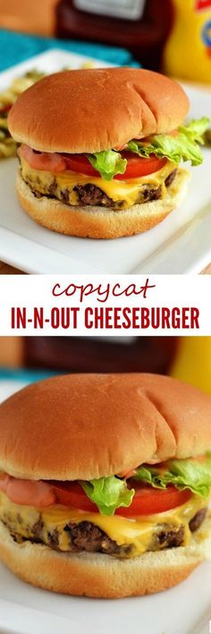 In N Out Burger Copycat Cheeseburger