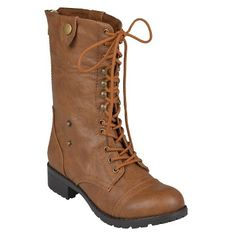 Women's Bamboo By Journee Fold-Over Combat Boots $69.99 Free Shipping on all items