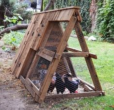 Chicken Coop - 21 Positively Dreamy Chicken Coops | 21 Positively Dreamy Chicken Coops. I may not have an A-frame, but my chickens will :) oui des poules dans ma cour, pour de bons oeufs frais Building a chicken coop does not have to be tricky nor does it have to set you back a ton of scratch.