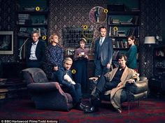 SHERLOCK (BBC) ~ Season 4 cast photo