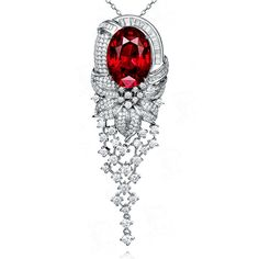 This beautiful Garnet Pendant that is made of solid Gold with Natural Diamond only by CHARMES. All are Certified Jewelry. Garnet Pendant, Diamond Pendant Necklace, Pendant Set, Gold Pendant, Pendant Jewelry, Fashion Jewelry Necklaces, High Jewelry, Jewelery, African Diamonds