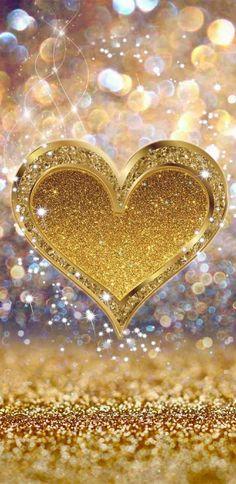 Gold Sparkle Heart wallpaper by NikkiFrohloff - - Free on ZEDGE™ Glitter Phone Wallpaper, Flower Phone Wallpaper, Heart Wallpaper, Butterfly Wallpaper, Love Wallpaper, Cellphone Wallpaper, Wallpaper Backgrounds, Sparkle Wallpaper, Gold Hearts Wallpaper