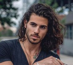 40 Most Popular Hairstyles For Curly Hair Men Long Curly Hair Men, Long Hair Cuts, Curly Hair Styles, Men With Long Hair, Long Hair Man, Mens Long Hair Styles, Long Hair Beard, Guy Hair, Thin Hair