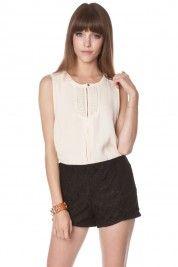 Kathleen Lace Shorts in Black $30  #shopsosie #top #ivory #summer #fashion #shopping