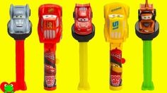 Disney Cars 3 Movie Lollipop Ups and Pez Candy Dispensers