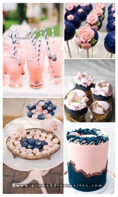 Classic Wedding Color Palettes to Steal: Navy Blue and Blush Gender Reveal Themes, Gender Reveal Party Decorations, Gender Reveal Banner, Idee Baby Shower, Fiesta Baby Shower, Gender Party, Baby Gender Reveal Party, Blue And Blush Wedding, Navy Blush Weddings