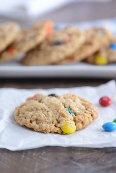 Gluten-Free Monster M&M Cookies