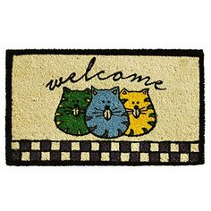 Home  More 121691729 Fat Cats Welcome Doormat 17 x 29 x 060 Multicolor >>> Check out this great product. (This is an affiliate link and I receive a commission for the sales)